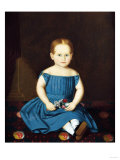 Portrait of a Little Girl Giclee Print by Dirk Van Erp