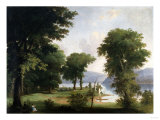 A Day on the Hudson (A Day in the Woods) Giclee Print by Thomas Birch
