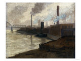 Industrial Scene, Mills on the Monongahela Giclee Print by Filipo Or Frederico Bartolini