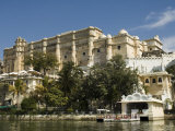 View of the City Palace and Hotels from Lake Pichola, Udaipur, Rajasthan State, India Photographic Print by  R H Productions
