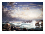 Rafe's Chasm, Gloucester, Massachusetts, 1853 Poster by Frederic Edwin Church