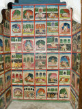 Scenes from the Kama Sutra in a Cupboard in the Juna Mahal Fort, Dungarpur, Rajasthan State, India Photographic Print by  R H Productions