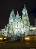 Santiago Cathedral on the Plaza Do Obradoiro, Santiago De Compostela, Galicia, Spain Photographic Print by  R H Productions