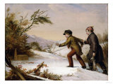 The Trap Sprung (The Dead Fall), 1844 Giclee Print by David Gilmour Blythe