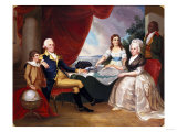 George Washington and His Family Giclee Print by Eugene Atget