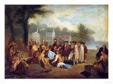 Penn's Treaty Premium Giclee Print by Dirk Van Erp