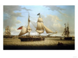 Weighing Anchor on the Evening Tide Giclee Print by Thomas Jones Barker