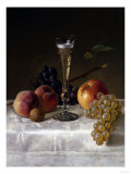 Still Life with Glass of Champagne Gicl&#233;e-Druck von Filipo Or Frederico Bartolini