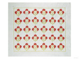 Carolina Lily Coverlet, Maryland, Appliqued and Trapunto Quilted, Circa 1850 Giclee Print