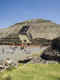 Pyramid of the Sun, Teotihuacan, 150Ad to 600Ad and Later Used by the Aztecs, North of Mexico City Photographic Print by R H Productions