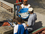 Gutting Fish at the Port of Ponto Do Sol, Ribiera Grande, Santo Antao, Cape Verde Islands Photographic Print by  R H Productions