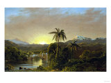 Sunset in Ecuador, 1854 Giclee Print by Robert Blum