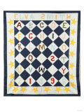 Alphabetic Quilt Top, Pieced and Appliqued Calico, 1896 Giclee Print by Eugene Atget