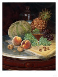 Still Life on a Marble-Topped Table Prints by William Bradford