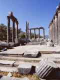 Ruins of the Temple of Zeus, Archaeological Site, Euromos, Near Bodrum, Anatolia, Turkey Photographic Print by  R H Productions