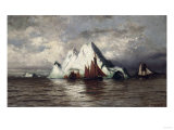 Fishing Boats and Icebergs Prints by William Bradford