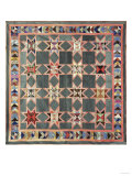 An Ohio Star Coverlet, America Pieced, Quilted and Appliqued Silk, Circa 1860 Posters