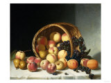 Still Life with a Basket of Fruit Premium Giclee Print by Soren Emil Carlsen