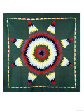 An Amish Star of Bethlehem Coverlet, Pennsylvania, Pieced and Quilted Cotton, Circa 1930 Giclee Print