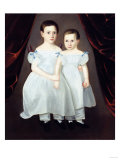 Portrait of Two Young Girls Giclee Print by Dirk Van Erp