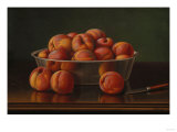 Still Life of Peaches in a Silver Bowl Giclee Print by Filipo Or Frederico Bartolini