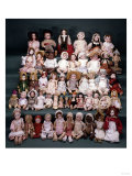 A Collection of German and French Bisque Headed Dolls Posters