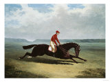 The Baron with Bumpy Up, at Newmarket Reproduction procédé giclée par Henry Thomas Alken