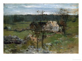 Farmhouse Print by John Henry Twachtman