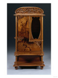 A Fine Marquetry and Carved Mahogany 'Dragonfly' Vitrine, Circa 1900 Giclee Print by Guiseppe Barovier