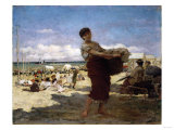On the Beach Giclee Print by Edwin Howland Blashfield