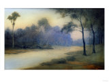An Earthenware Scenic Plaque by Rookwood, Depicting a View of a River and Wooded Banks, 1917 Giclee Print by  Adler & Sullivan