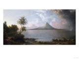 Omotepe Volcano, Nicaragua, 1867 Giclee Print by Martin Johnson Heade
