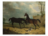Hunters and a Spaniel in a Wooded Landscape, 1835 Giclee Print by Henry Thomas Alken
