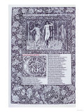 The Hous of Fame, Liber Primus. a Page from 'The Works of Geoffrey Chaucer' on Vellum, 1896 Poster by Henry Thomas Alken