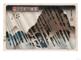 Night Rain, Oyama', from the Series 'Eight Views of Famous Places' Giclee Print by Ando Hiroshige