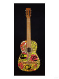 A Psychedelic Guitar, Possibly Used by Eric Clapton When He Played in the Band 'Cream' Circa 1967 Giclee Print