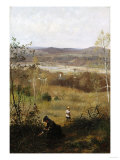 Deerfield Valley, Circa 1877 Premium Giclee Print by James Wells Champney