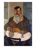 Man in a Cafe, 1922-1924 Prints by Jose Agustin Arrieta