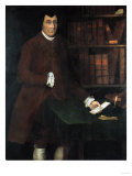 A Portrait of Charles Church Chandler in the Library Giclee Print by Winthrop Chandler