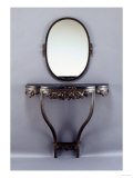 A Wrought-Iron Console and Mirror, Circa 1925 Giclee Print by Daum