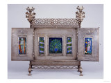 An Enamelled Triptych by Nelson and Edith Dawson (1859-1942), 1896 Reproduction proc&#233;d&#233; gicl&#233;e par Nelson And Edith Dawson