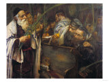 Sukkot in the Synagogue Giclee Print by Frank Wright Bourdillon