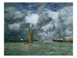 Trouville at High Tide, 1892-1896 Reproduction procédé giclée par Eugène Boudin