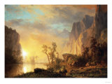 Sunset in the Rockies Print by Sir William Beechey