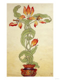 Design for Tulips in a Plant Pot, Circa 1897 Giclee Print by  Adler & Sullivan