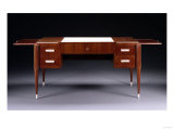 Bureau Collectionneur 25, a Mahogany, Ivory and Vellum Desk, Circa 1925 Giclee Print by Daum