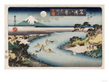 Autumn Moon, Tama River&#39;, from the Series &#39;Eight Views of Famous Places&#39; Giclee Print by Ando Hiroshige