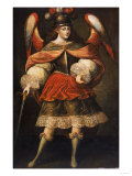 Archangel Miguel, 18th Century Giclee Print by Jose Agustin Arrieta