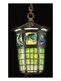 A 'Turtleback Tile' Leaded Glass Bronze Lantern Giclee Print by Guiseppe Barovier