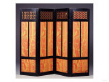 An Ebonised Four Fold Aesthetic Movement Screen, English Circa 1875 Giclee Print